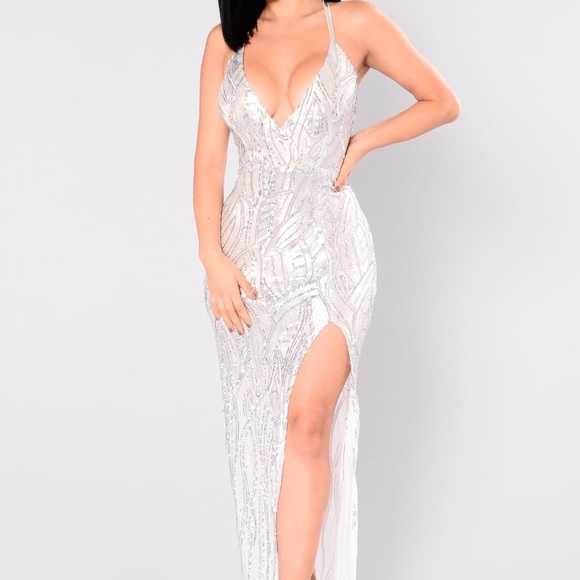 Plus size sequin prom dress